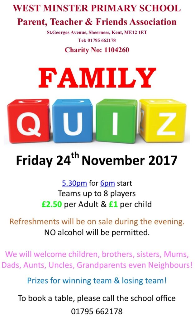 Quiz Night November 2017 Family